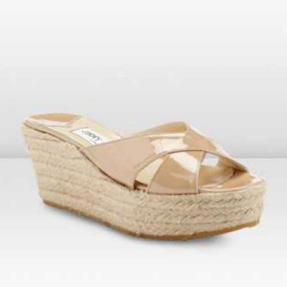 96c834baf9d4 Jimmy Choo Shoes - Jimmy Choo Paisley Nude Espadrille Wedge Sandal 10